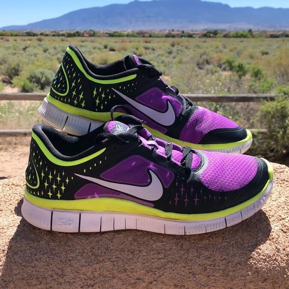 Nike Shoes Free Run Purple Neon OrangePoshmark Gratis 50 gratis løb 3 Poshmark